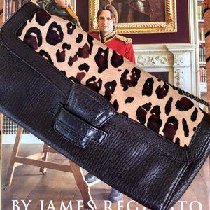 Banana Republic Leather & Calf Hair Bag